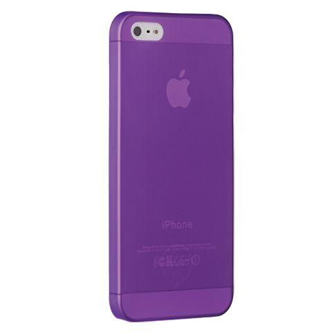 Ультра тонкий чехол 0.3мм для iphone 5/5s фиолетовый