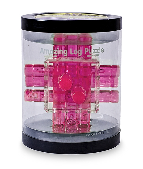 Головоломка Log Puzzle розовая