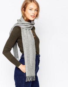 шарф 100% шерсть ягнёнка , расцветка Серый, светлый тон ,плотность 6