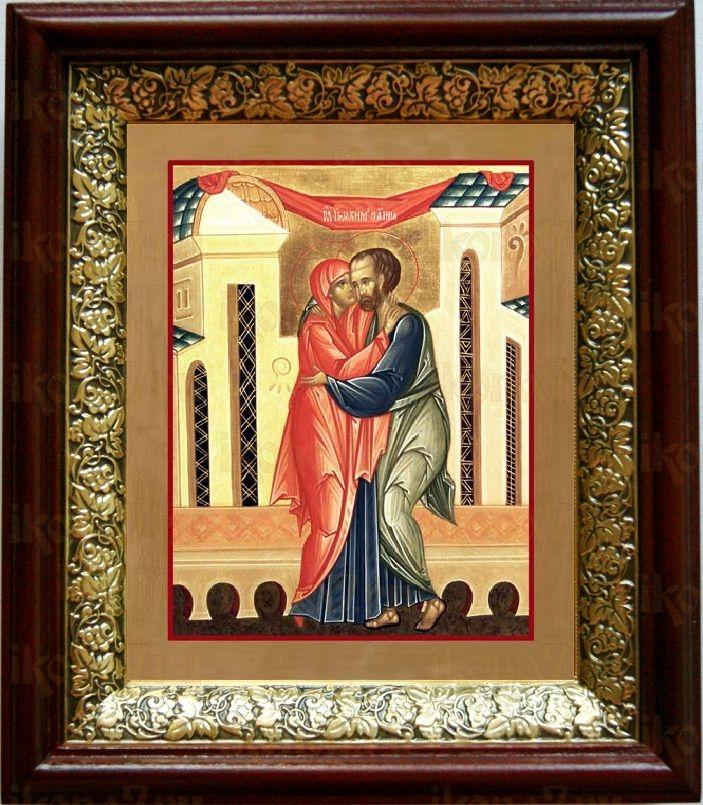 Иоаким и Анна (19х22), темный киот