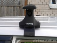 Багажник на крышу Nissan Note, Атлант, крыловидные дуги