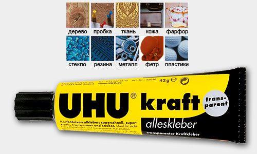 Универсальный контактный клей UHU Kraft Transparent