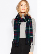 шарф 100% шерсть ягнёнка , расцветка клана МакКензи Mackenzie, плотность 6