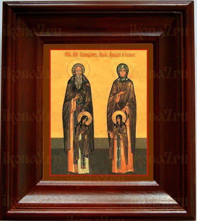 Ксенофонт и Мария (21х24), простой киот
