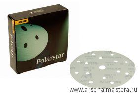 Шлифовальный круг на пленочной  основе липучка Mirka POLARSTAR  150мм 15 отв P1200 в комплекте 50 шт.