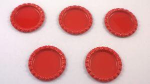 Крышка, Материал металл, Внутренний диаметр 25 мм, наружный 31 мм, цвет №19 красный (1 уп. = 24 шт)