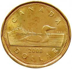 Канада 1 Доллар 2008 Олимпида Ванкувер 2010 Утка