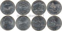 Набор из 4 монет 5 центов 200 летие экспедиции Льюиса и Кларка