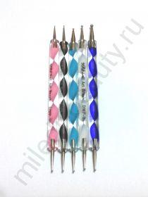 Набор Дотс для дизайна ногтей, пластиковый (5 шт.)