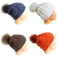 Женские шапки с помпоном ВЯЗКА, цвета в ассортименте