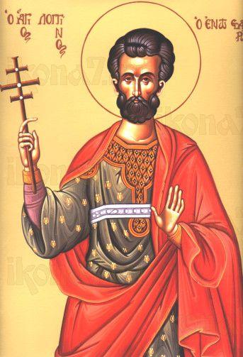 Лонгин Сотник (рукописная икона)