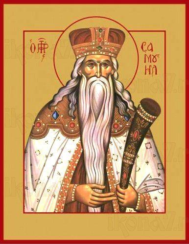 Самуил, пророк (рукописная икона)