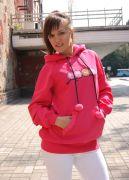 Розовая женская толстовка