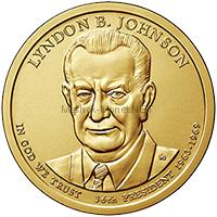 1 доллар США 2015 год 36 Президент Линдон Б. Джонсон (Lyndon B. Johnson)