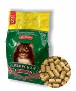 """Сибирская кошка """"Лесной"""" Впитывающий древесный наполнитель (5 л)"""