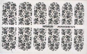 Наклейки для ногтей NFM 026