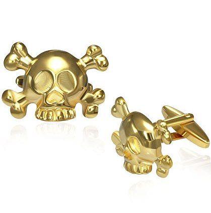 Запонки Золотой череп