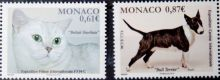 Почтовая открытка Monaco - British Shorthair, Bull Terrier