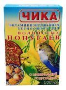 Чика Корм для волнистых попугаев с минеральной подкормкой (500 г)