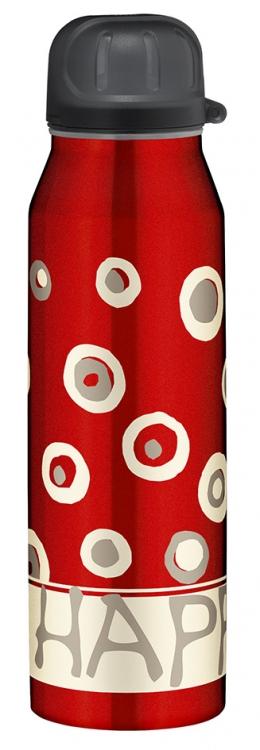 Термос-бутылочка Alfi Be happy circles red 0,5L