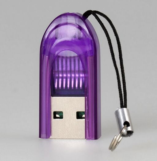 Картридер Smartbuy SBR-710-F (фиолетовый) MicroSD