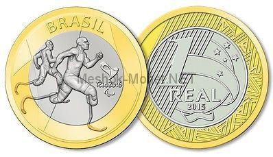 Бразилия 1 реал 2015 - Паралимпиада - Легкая атлетика. XXXI летняя Олимпиада в Рио-де-Жанейро 2016