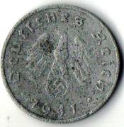 10 рейхспфеннигов. 1941 год.  F.  Германия.