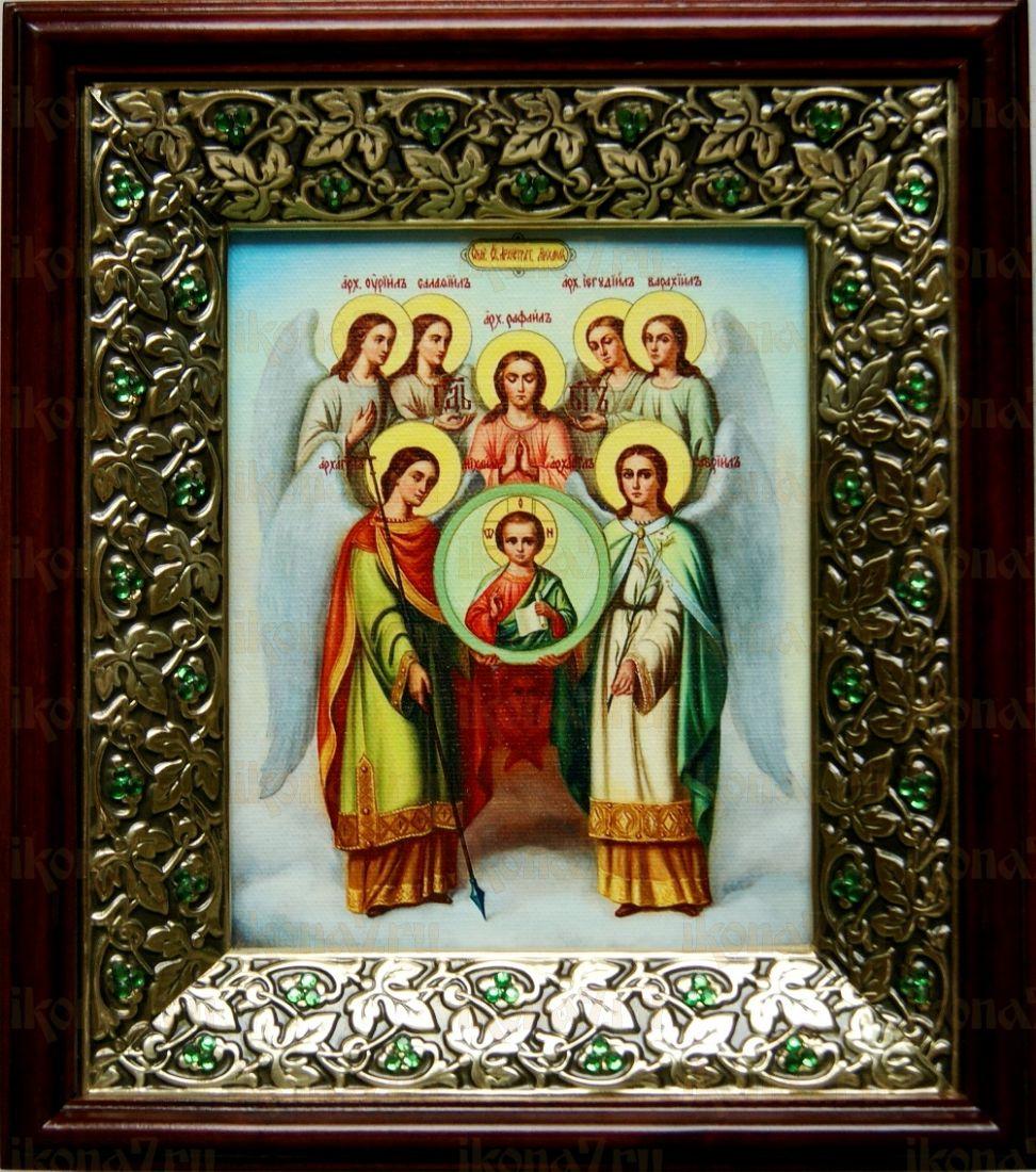 Собор архангела Михаила (21х24), киот со стразами