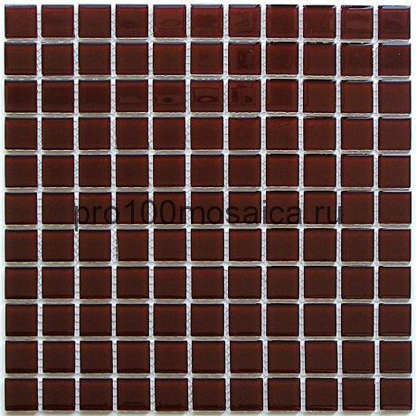 Deep brown стекло 25*25. Мозаика серия CRYSTAL, размер, мм: 300*300 (BONAPARTE)