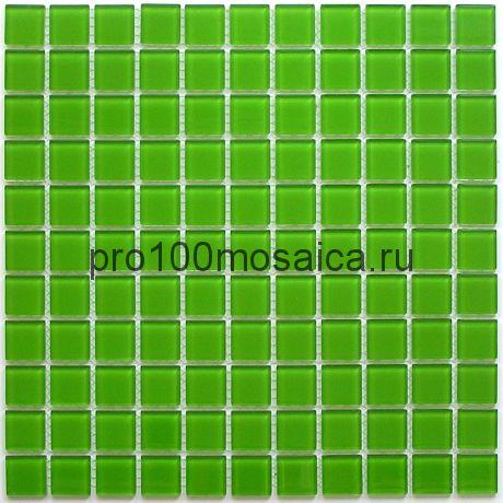 Green glass стекло 25*25. Мозаика серия CRYSTAL, размер, мм: 300*300 (BONAPARTE)