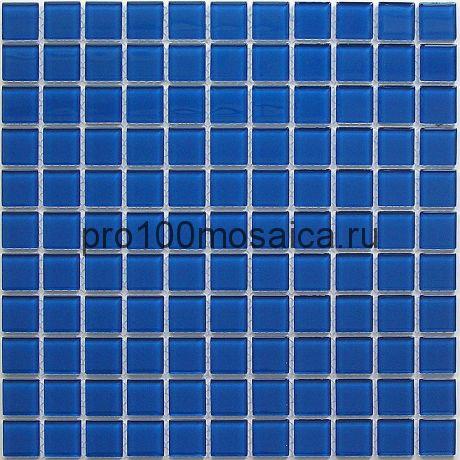 Deep blu стекло 25*25. Мозаика серия CRYSTAL, размер, мм: 300*300 (BONAPARTE)