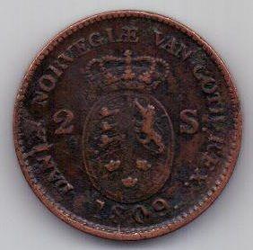 2 скиллинга 1809 г. Дания