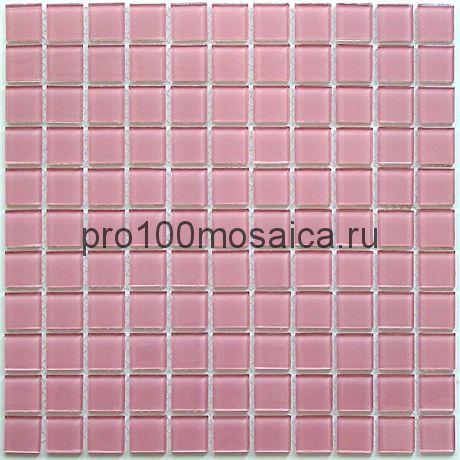 Pink glass стекло 25*25. Мозаика серия CRYSTAL, размер, мм: 300*300 (BONAPARTE)