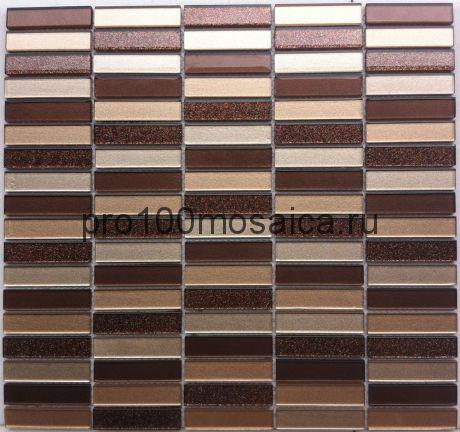Freedom стекло 15*63. Мозаика серия CRYSTAL, размер, мм: 300*320 (BONAPARTE)
