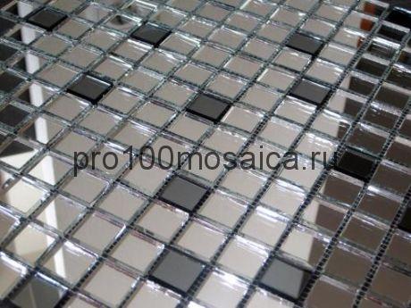 SD20-3 Серебро+графит. Мозаика зеркальная серия DECO, 328*328 мм (VIVERE)