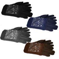 Женские двойные перчатки КАМНИ, цвета в ассортименте