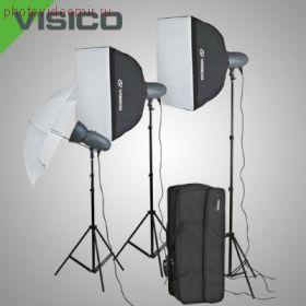 Комплект импульсного света Visico VL PLUS 200 Novel kit с сумкой