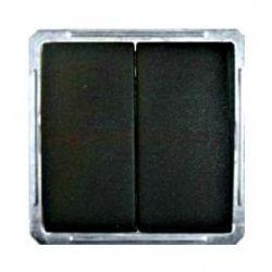 Выключатель 2-х клавишный для жалюзи (250В, 16А, чёрный бархат)