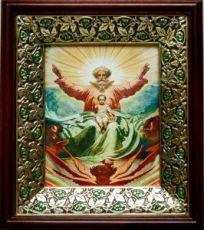 Новозаветная Троица (21х24), киот со стразами