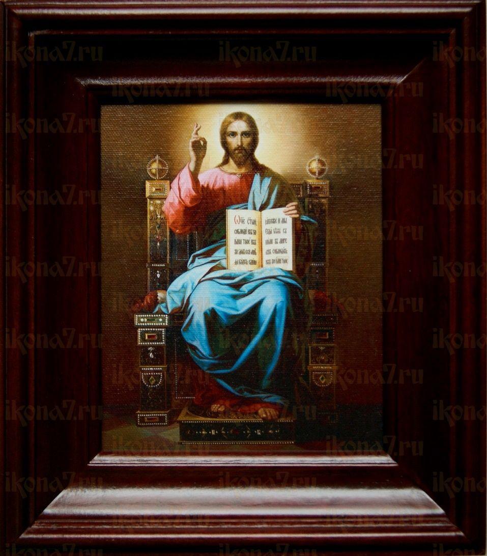 Спас на престоле (21х24), простой киот