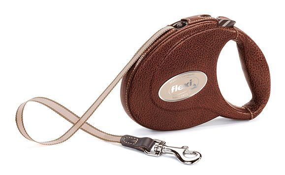 Рулетка поводок Flexi Leather CC