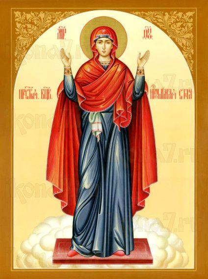 Нерушимая стена икона Божией Матери (рукописная)