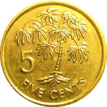 Сейшелы 5 центов 2007 г.