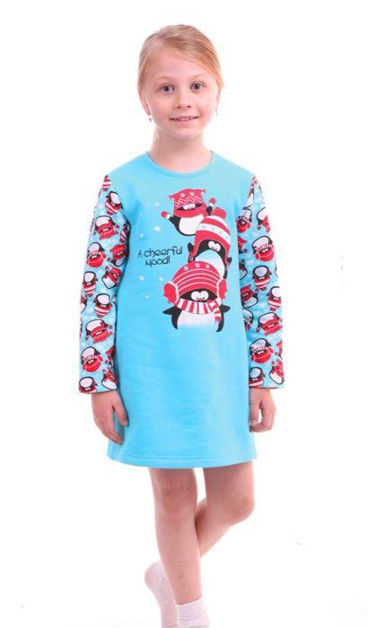 Сорочка для девочки Пингви