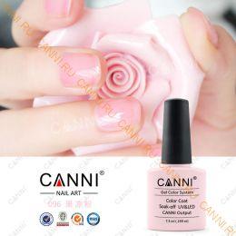 Гель-лак CANNI 096 (Прозрачно-розовый/камуфляж)