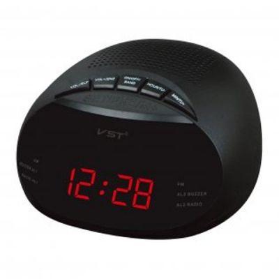 VST901-1 часы 220В + радио крас.цифры