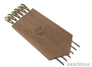 Панно с шампурами гербовое, ручки цельнометаллические, латунное литье