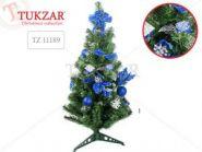 Eлка декоративная, цвет украшений: синие, высота 75 см (арт. TZ 11189) (10544)