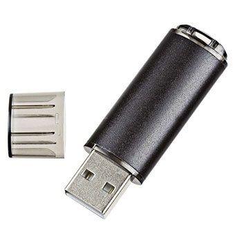 16GB USB-флэш накопитель Apexto U307B, черный с прозрачным колпачком