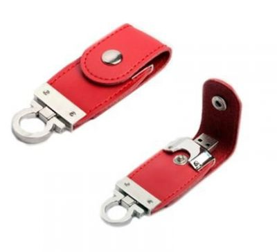 4GB USB-флэш накопитель Apexto U503O красный кожаный браслет